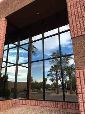 Commercial businesses need clean windows